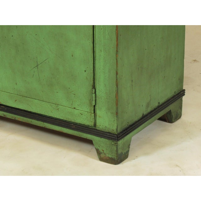 19th C. American Green Painted Cupboard For Sale - Image 10 of 12