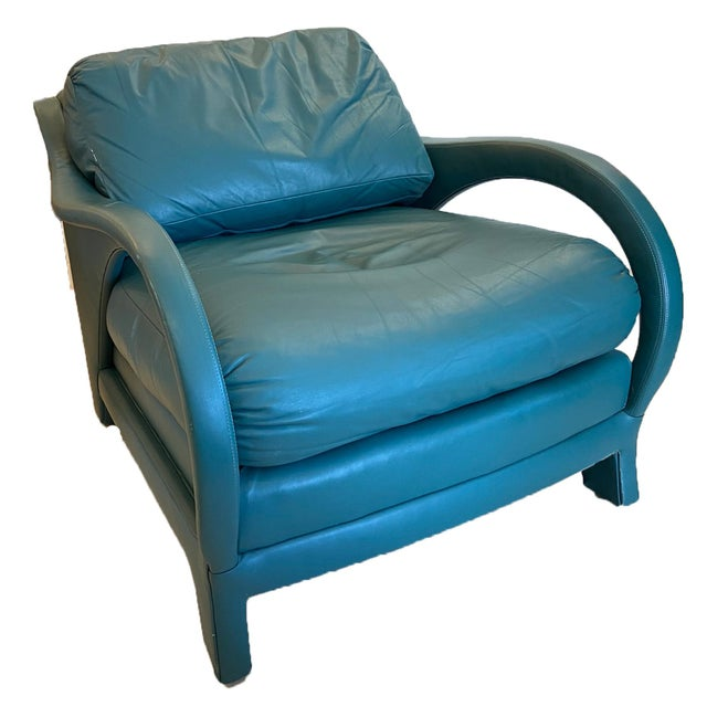 Century Furniture Jay Spectre Tycoon Leather Lounge Chairs- a Pair For Sale - Image 4 of 8
