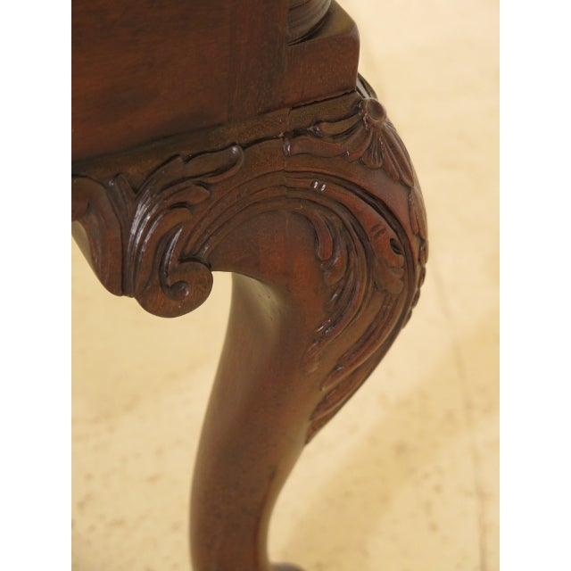 Kittinger Kittinger Colonial Williamsburg Clawfoot Mahogany Lowboy For Sale - Image 4 of 11