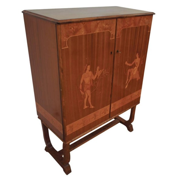 Tempting Mjolby Intarsia Bar Cabinet From Sweden, Circa 1920s For Sale In New York - Image 6 of 7