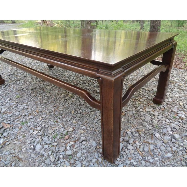 Oak Mid Century Quartersawn Oak Chinoiserie Coffee Table For Sale - Image 7 of 13