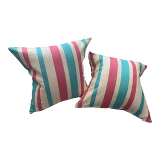 Striped Pillows - a Pair For Sale