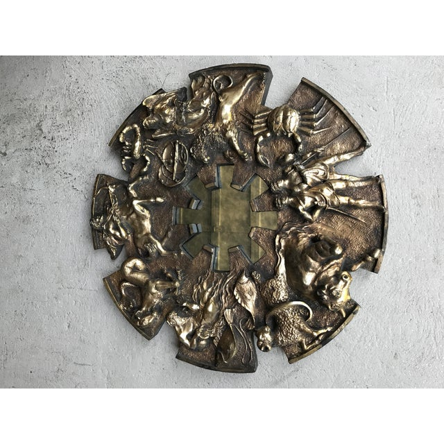 Vintage Finesse Originals Zodiac Mirror Brutalist For Sale - Image 11 of 13