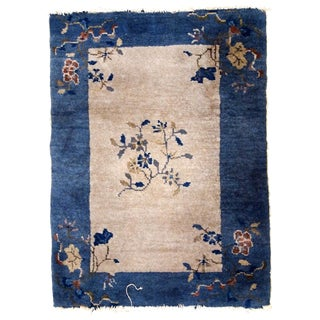 1880s, Handmade Antique Peking Chinese Rug 2.1' X 3.2' For Sale