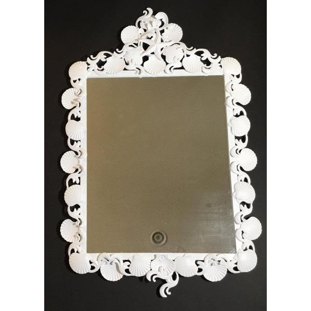 Organic Modern Iron Sea Shell Mirror For Sale - Image 11 of 13