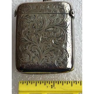 Antique Victorian Sterling Silver Chester England William Neale Vesta Case Match Safe Strike Preview