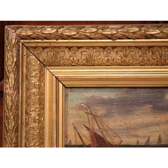 19th Century French Oil on Board Paintings - A Pair - Image 8 of 9