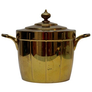 Brass Ice Bucket with Glass Liner