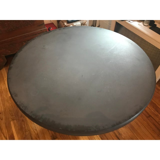 Made Goods Grey Concrete Round Dining Table For Sale - Image 4 of 11