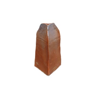 Southwestern Style Triangular Earthenware Vase Preview