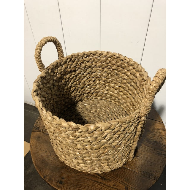 Seagrass Large Basket With Handles For Sale - Image 4 of 5