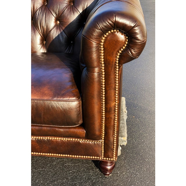 Tommy Bahama Manchester Leather Sofa For Sale - Image 6 of 13