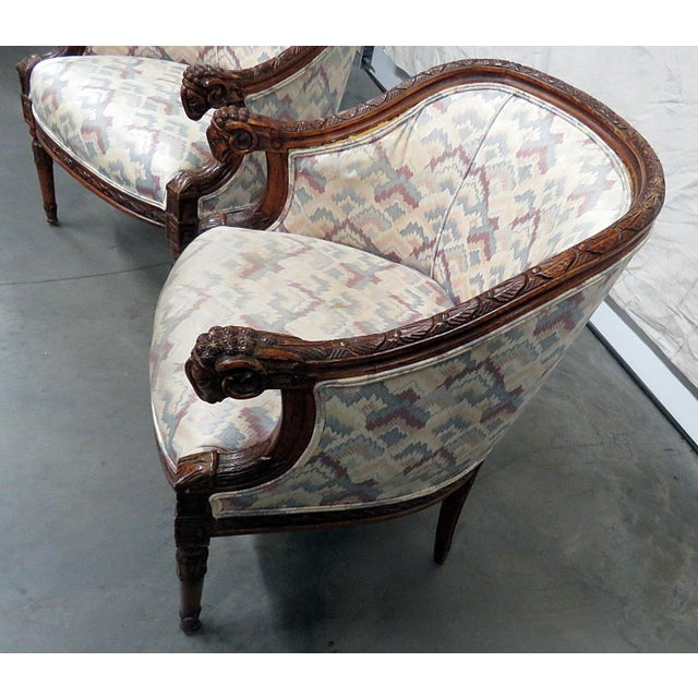 White Regency Style Club Chairs - a Pair For Sale - Image 8 of 13