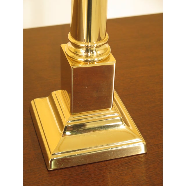 Traditional Baldwin Brass Candlestick Lamp For Sale - Image 3 of 6
