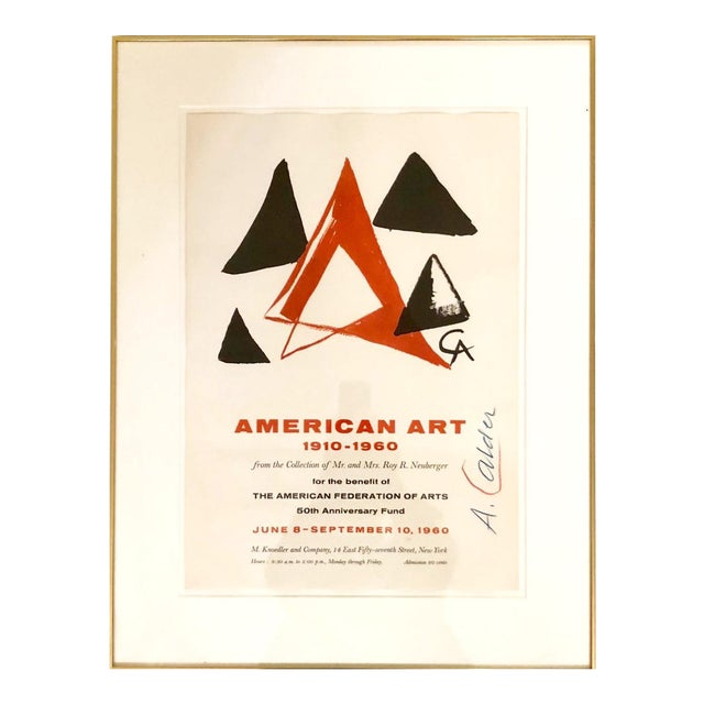 Alexander Calder Signed Knoedler Exhibition of American Art 1910-1960 Poster For Sale
