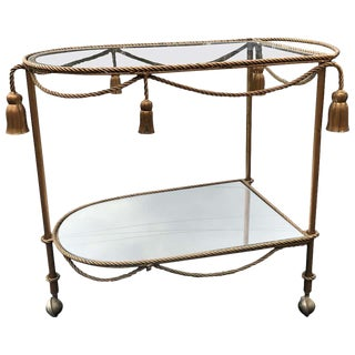 Hollywood Regency Italian Bar Cart For Sale