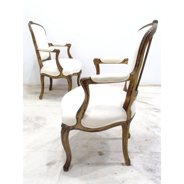 Louis XV Louis XV Style Fauteuils - A Pair For Sale - Image 3 of 11