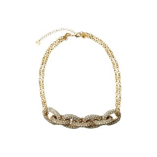 Vintage Rhinestone Chain Link Necklace