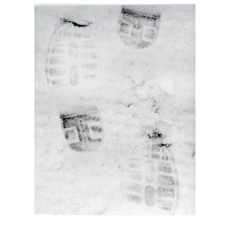"""Footprints in the Snow"" Photograph For Sale"