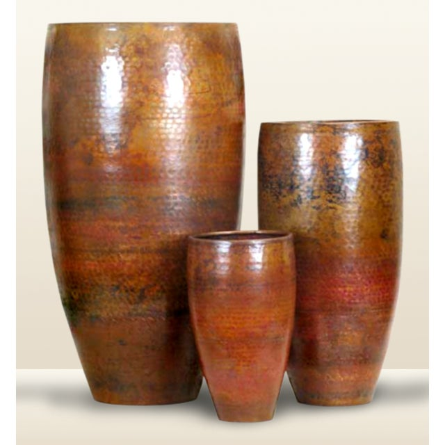 Pasargad's Hand-Forged Copper Vase - Image 2 of 5