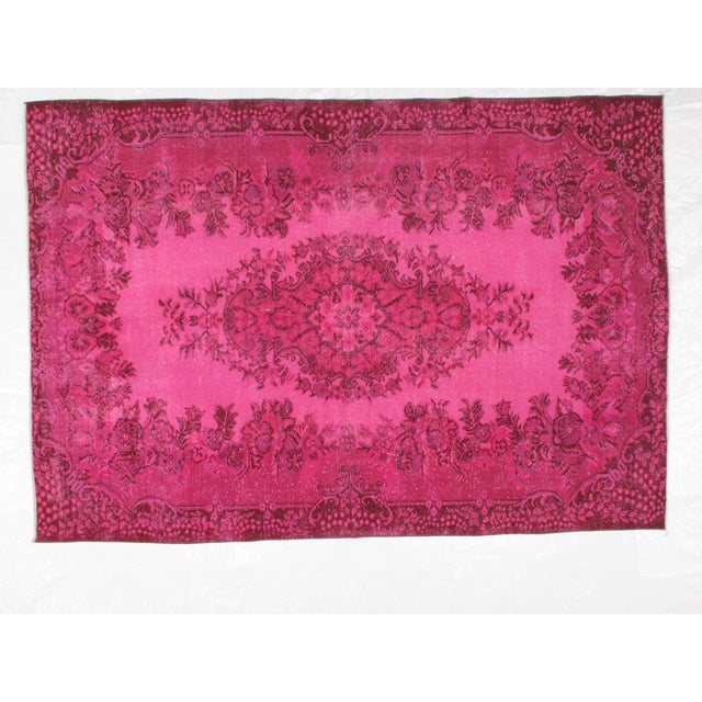 1970s Vintage Overdyed Distressed Turkish Rug - 5′7″ × 8′1″ For Sale In New York - Image 6 of 6