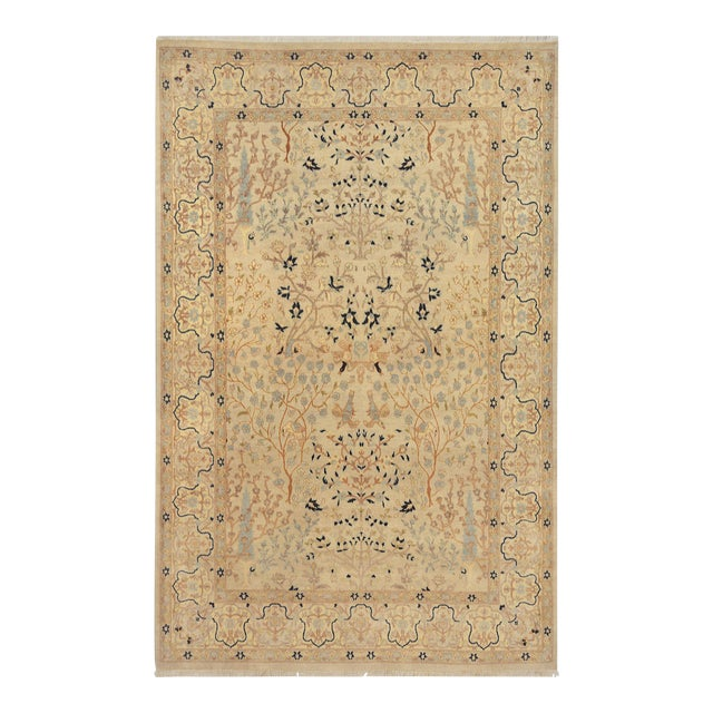 Mansour Exquisite Handmade Tabriz Rug - 4′8″ × 6′9″ For Sale