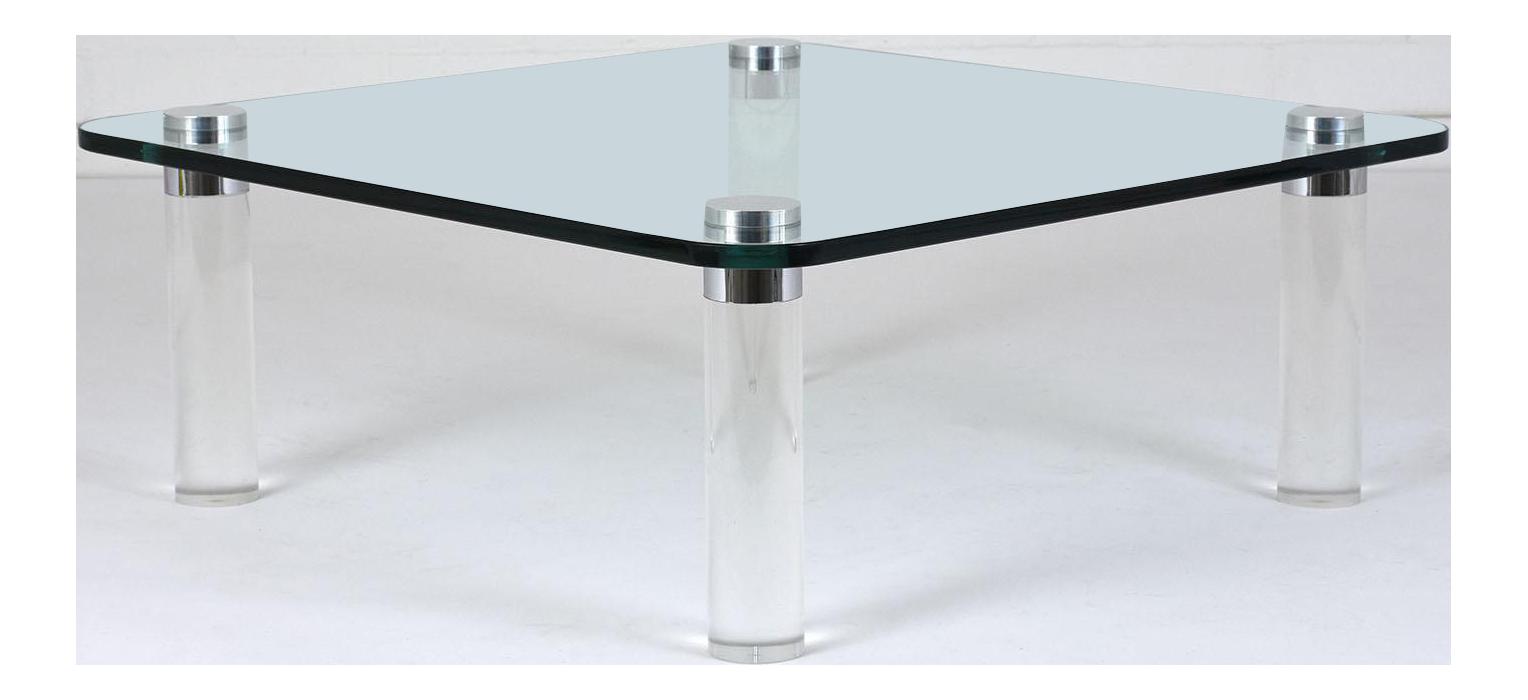 Mid Century Modern Style Lucite Coffee Table Chairish