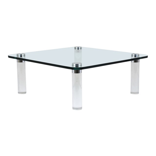 Mid-Century Modern-Style Lucite Coffee Table For Sale