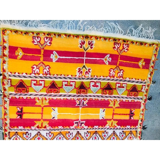 Folk Art Moroccan Vintage Tribal Rug - 4′9″ × 6′11″ For Sale - Image 3 of 13
