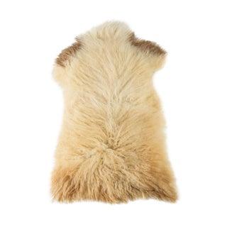 """Contemporary Natural Sheepskin Pelt - 2'0""""x3'3"""" For Sale"""
