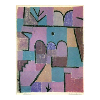 "Paul Klee Vintage 1967 Abstract Lithograph Print "" Oriental Garden "" 1939 For Sale"