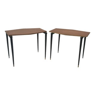 1950s Japanese Modern Design Yamaguchi Side Tables - a Pair For Sale