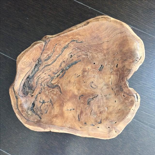 Handmade Burl Wood Dish - Image 3 of 6