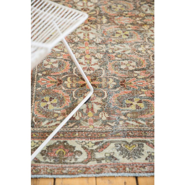 "Vintage Distressed Mahal Carpet - 5'5"" X 10' For Sale In New York - Image 6 of 13"