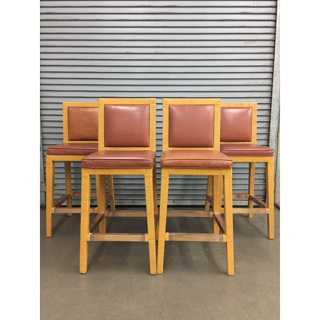 Vintage Billy Baldwin Bar Stools - Set of 4 - Image 2 of 7