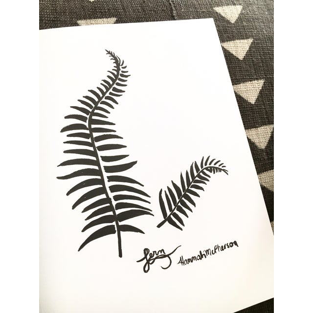 Boho Chic Fern Original Drawing by Hannah McPherson For Sale - Image 3 of 5