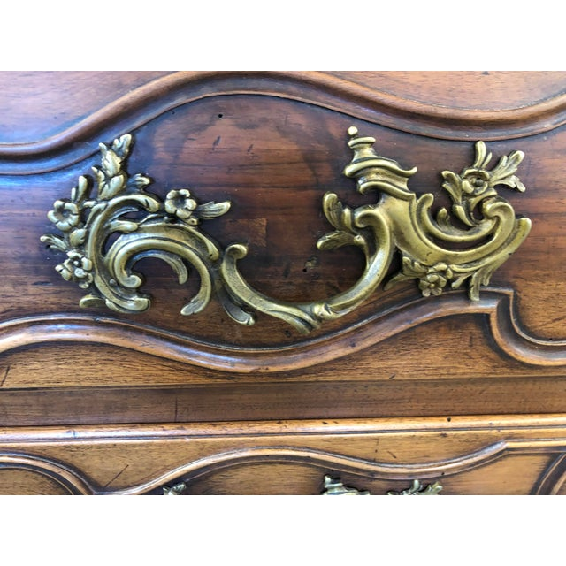 Metal 18th C. French Louis XV Commode en Tombeau Bombé Chest For Sale - Image 7 of 13