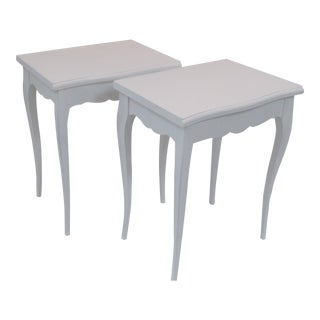 Vintage French Lacquered Accent Side Tables - A Pair For Sale