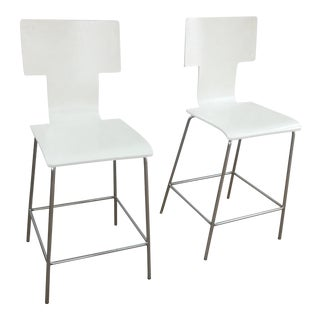 West Elm Bar Stools - a Pair For Sale