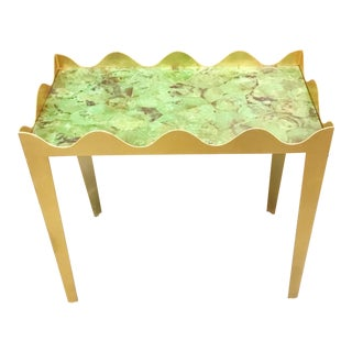 Henredon Celerie Kemble Ruffle End Table For Sale