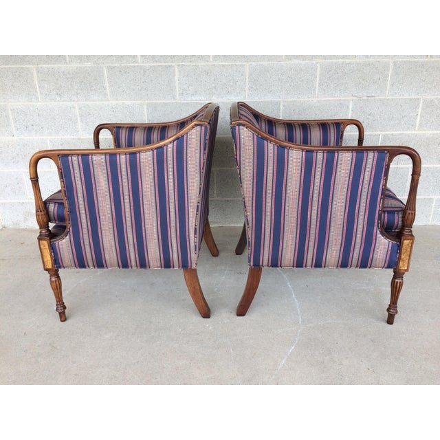 American Classical Southwood Mahogany Accent Chairs - a Pair For Sale - Image 3 of 11