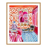 Image of Quiet Moments in a Colorful World by Kate Lewis in Gold Frame, Small Art Print For Sale