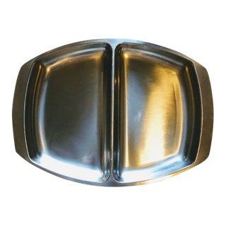 Kalmar Denmark Mid-Century Modern Stainless Steel Serving Tray Serving Dish For Sale