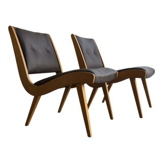 1960s Jens Risom Lounge Chairs - a Pair For Sale
