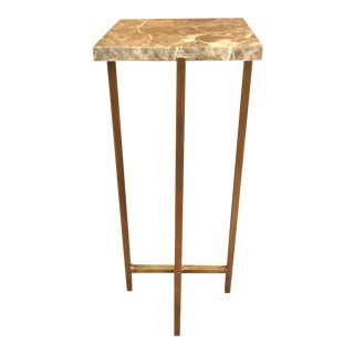 Contemporary Interlude Home Lara Square Drinks Table For Sale