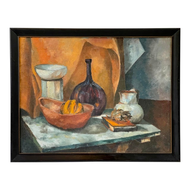 Midcentury Still Life Oil Painting For Sale