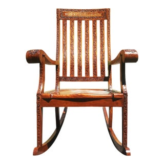 An Anglo-Indian - British Colonial Rocking Chair - Rocker For Sale