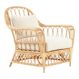 Bar Harbor Chair, Beige, Rattan For Sale