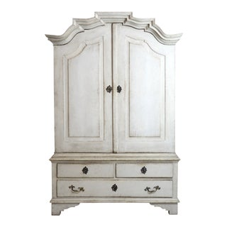 Gustavian Buffet Deux Corps From Dalarna, Circa 1750 For Sale
