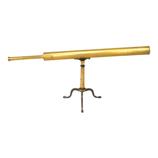 English Victorian Brass Telescope For Sale